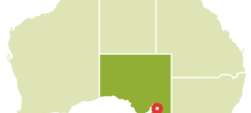 Map of Australia, South Australia